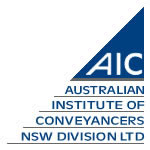 Australian Institute of Conveyancers NSW Division LTD